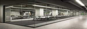 partition glass wall, single glass - prosel metal