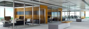 partition glass wall magneo - prosel metal