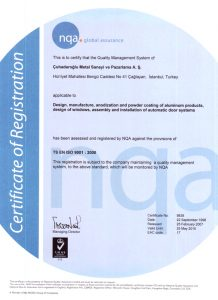 certificate iso 9001: 2000