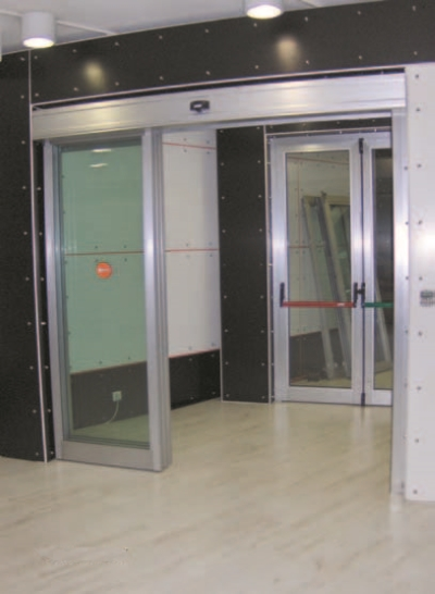 Telescopic Automatic Sliding Door Prosel Metal
