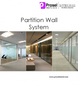 Prosel Metal partition wall catalog